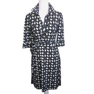 LAUNDRY BY SHELLI SEGAL PRINT DRESS